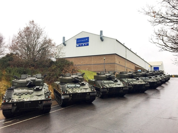 The Warrior capability sustainment program saw its costs rise by £136 million as a result of issues surrounding the new 40mm cannon being fitted to the vehicle by prime contractor Lockheed Martin UK. (Courtesy of Lockheed Martin)