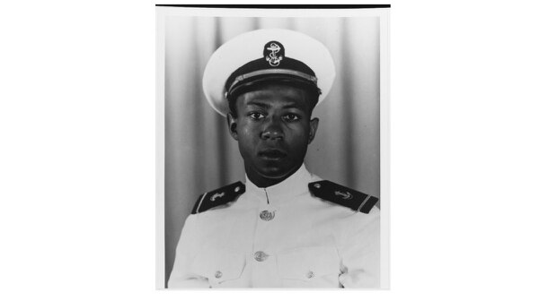 Midshipman Jesse L. Brown at Naval Air Station, Jacksonville, Florida, in October of 1948. (National Archives)