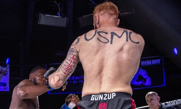 """I have standards to uphold. I didn't come home to be average."" — Marine veteran and professional fighter Kyle Stewart. (Iron Boy Promotions/photographer Rhonda Costa)"