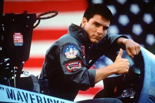 Tom Cruise in a scene from the 1986 film
