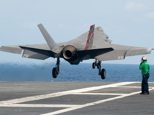 The F-35C is expected to reach initial operational capability in 2018. (Lockheed Martin photo by Andrew McMurtrie/Navy)