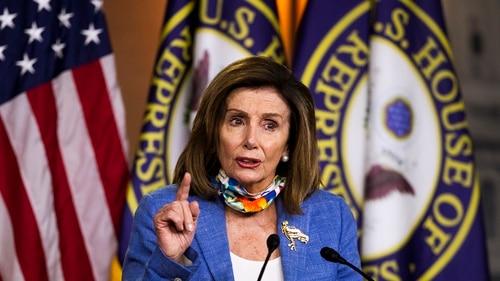 The new bill comes as House Speaker Nancy Pelosi, shown, and Treasury Secretary Steven Mnuchin are attempting to revive long-stalled coronavirus aid negotiations. (Manuel Balce Ceneta/AP)