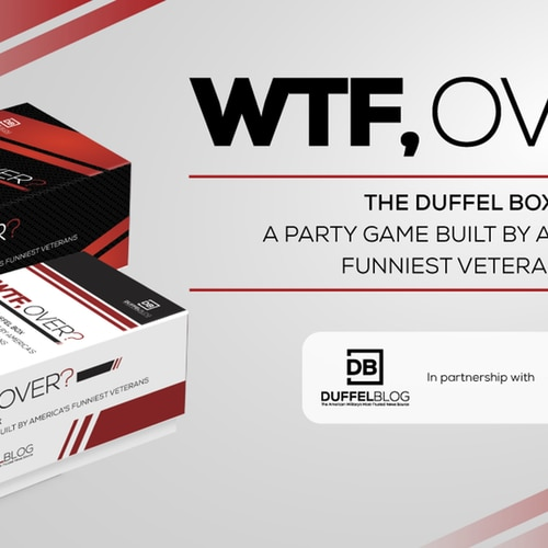 All your favorite Duffel Blog jokes and content are featured in a brand new Cards Against Humanity-style game, making it a must have for any veteran. (Duffel Blog, War Games LLC)