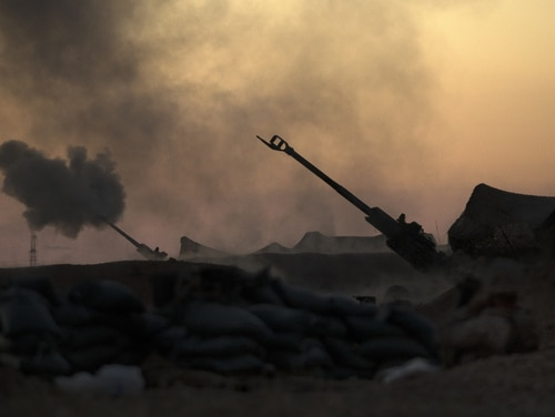 U.S. Marines fire an M777-A2 Howitzer in Syria, June 2, 2017. (Sgt. Matthew Callahan/Marine Corps)