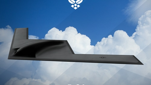 Concept art for the B-21 bomber, which is shrouded in secrecy. (U.S. Air Force.)