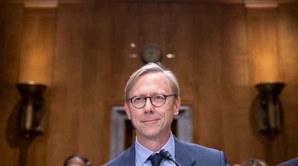 Brian Hook, the State Department's special representative for Iran, testifies during a Senate Foreign Relations Committee hearing on the country's policy toward Iran on Oct. 16, 2019. (Tasos Katopodis/Getty Images)
