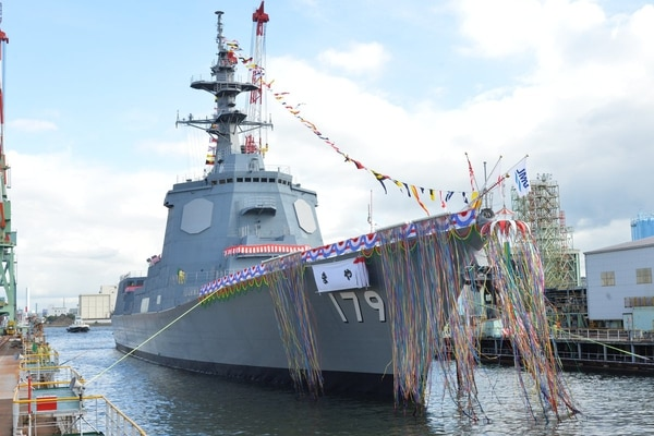 The Maya is the first of two 27DDG-class destroyers ordered by the Japan Maritime Self-Defense Force. (Courtesy of the Japan Maritime Self-Defense Force)