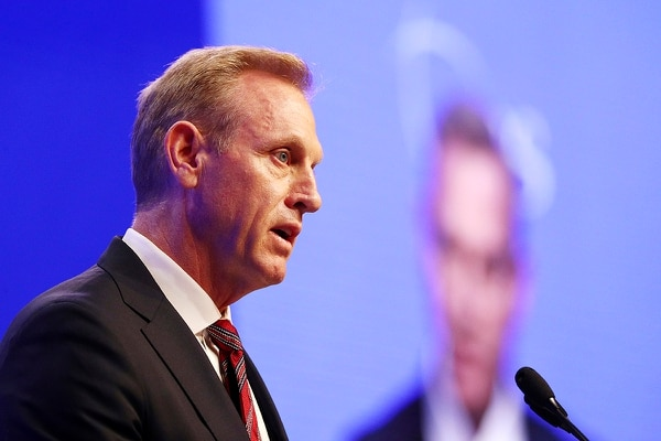 Acting U.S. Secretary of Defense Patrick Shanahan delivers a speech entitled