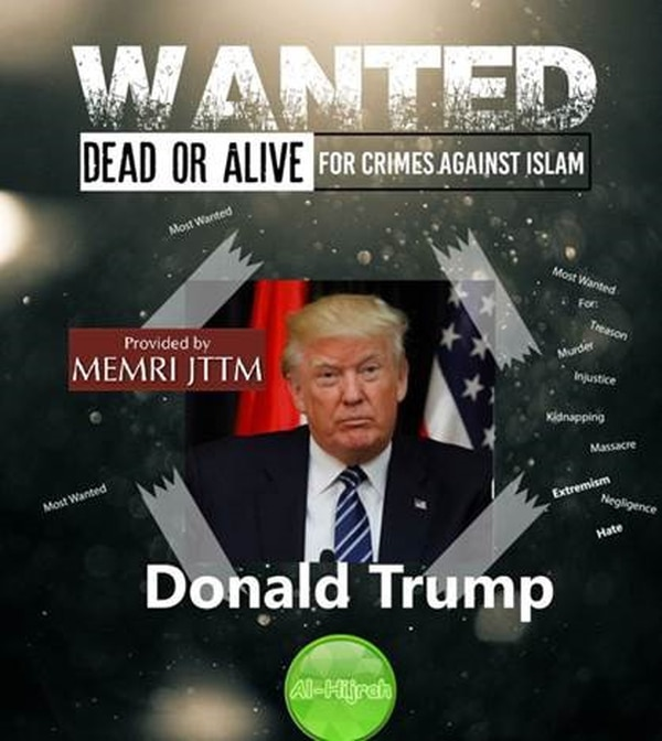 Al-Hijrah Media released a statement regarding U.S. involvement in Afghanistan. The statement included an image of President Trump with the caption,
