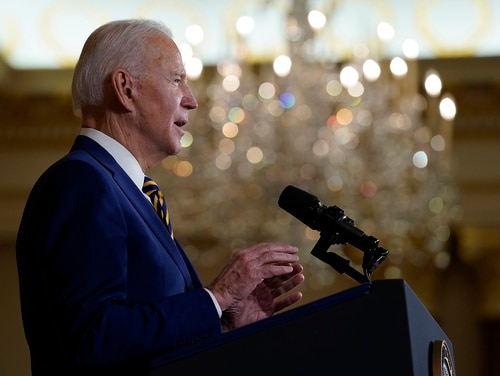 President Joe Biden speaks about foreign policy, at the State Department on Feb. 4, 2021, in Washington. (Evan Vucci/AP)