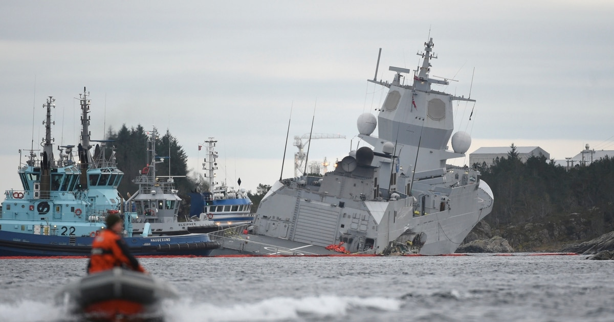 The Royal Norwegian Navy was dealt a devastating blow in the early morning  hours of November 10 when one of its five capital Nansen-class frigates  collided ...