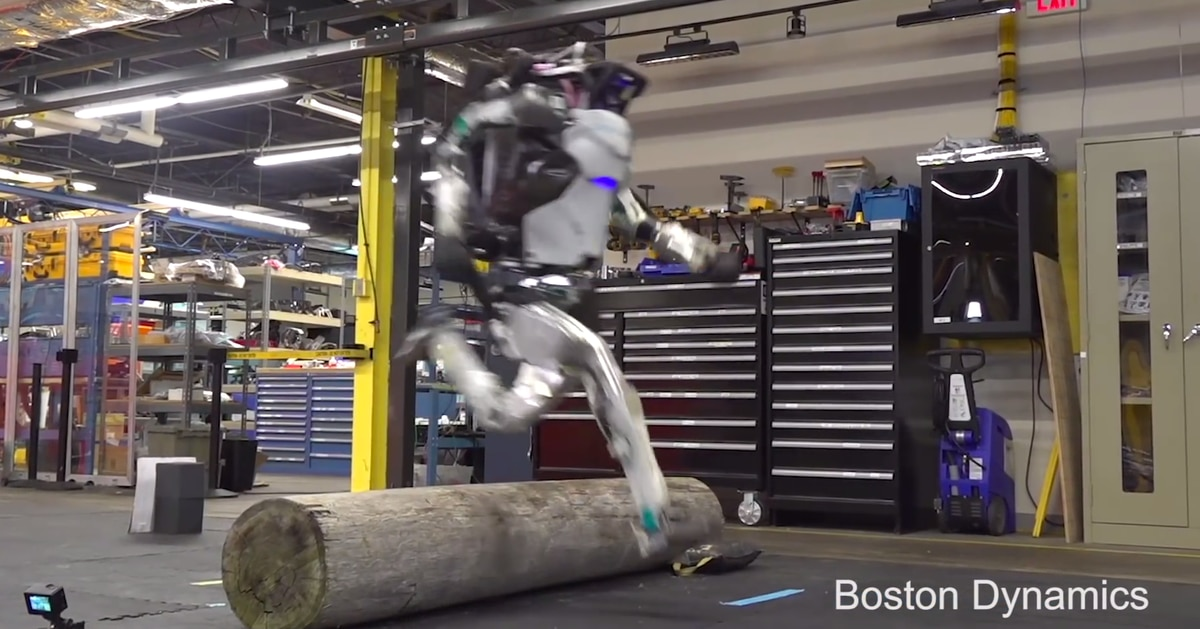 Boston Dynamics robot can now hop and freestyle run