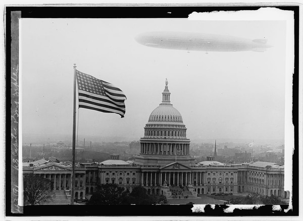 Graf Zeppelin in Washington, D.C. (National Photo Company Collection, Library of Congress)