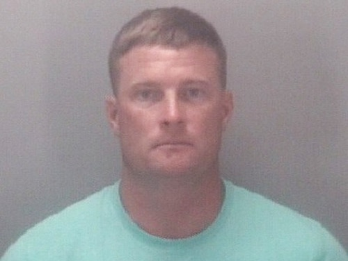 Jordan Lee Grinnell, 38, was arrested after he allegedly beat up a 14-year-old soccer player. (Virginia Beach Police Department)