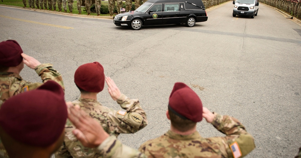 Remains of paratrooper killed in Afghanistan returned to Fort Bragg
