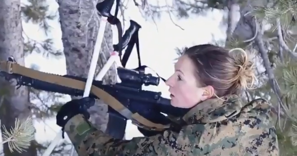 First female Marine graduates from Winter Mountain Leaders Course