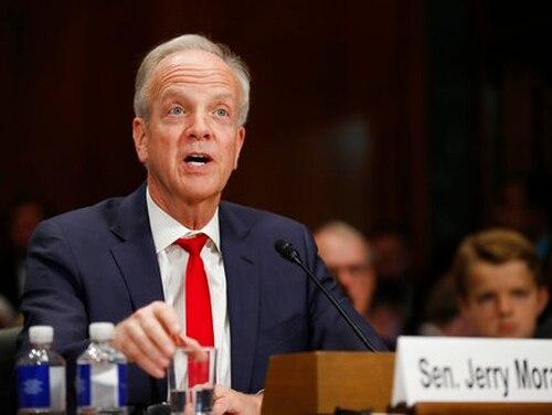 Sen. Jerry Moran, R-Kan., testifies during a Senate Judiciary Committee hearing on nominations on Capitol Hill in Washington, Wednesday, Nov. 15, 2017. (Carolyn Kaster/AP)