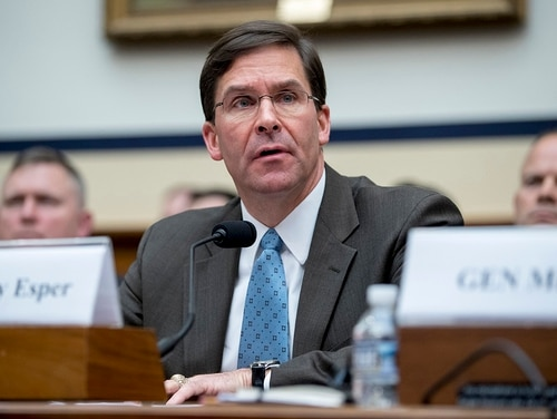 Acting Defense Secretary Mark Esper is expected to undergo a confirmation hearing this month. (Andrew Harnik/AP)