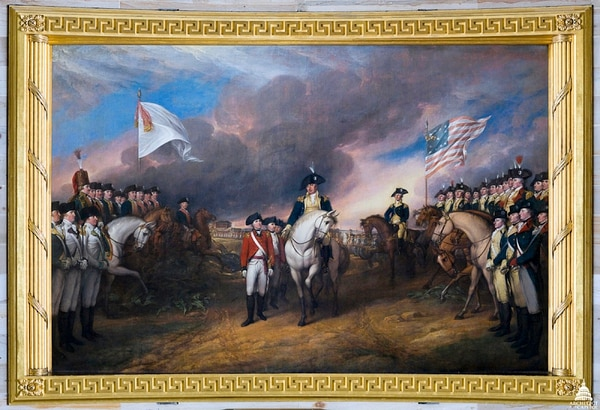 The Surrender of Lord Cornwallis by John Trumbull, 1820 (Architect of the Capitol)