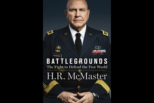 "This book covere released by HarperCollins shows ""Battlegrounds"" by Lt. Gen. H.R. McMaster. The book, by President Donald Trump's second national security adviser, will come out on April 28, 2020. (HarperCollins via AP)"