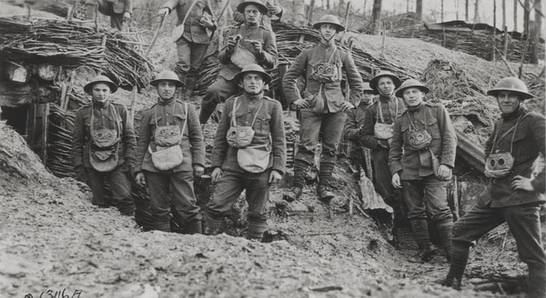 World War I Marines in France. (United States Marine Corps Archives & Special Collections)