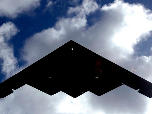 The B-2 Spirit is a multi-role bomber capable of delivering both conventional and nuclear munitions. (Airman 1st Class Michael S. Dorus/Air Force)
