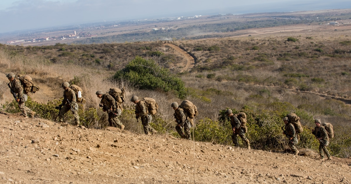 A 20-mile tactical march, more demanding combat eval ― this Marine regiment just did it
