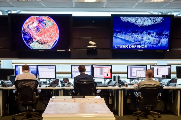 CHELTENHAM, ENGLAND - NOVEMBER 17: A general view of the 24 hour Operations Room inside GCHQ, which Chancellor of the Exchequer George Osborne was shown by of Director of GCHQ Robert Hannigan and Cheltenham MP Alex Chalk on November 17, 2015 in Cheltenham, England. Chancellor George Osborne delivered a speech in which he stated that Britain has developed an