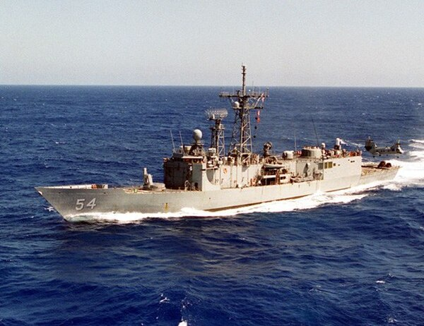 The Oliver Hazard Perry-class frigate Ford before it was decommissioned. (U.S. Naval History and Heritage Command)