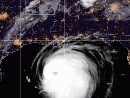 Some Social Security Administration employees were told to virtually report to work just hours after Hurricane Laura had passed, though the agency quickly changes course to offer them leave. (NOAA)