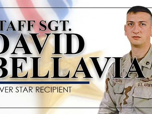 The Army put together this promotional graphic when Staff Sgt. David Bellavia earned a Silver Star for actions in 2004. Now, the award is being upgraded to a Medal of Honor. (Army)