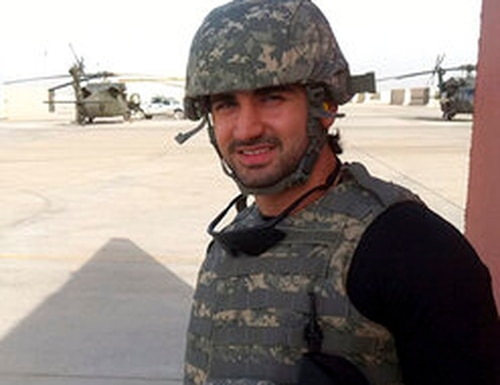 Amir Hekmati when he was in the U.S. Marine Corps in Baghdad, Iraq, in May 2010. (Amir Hekmati via AP)