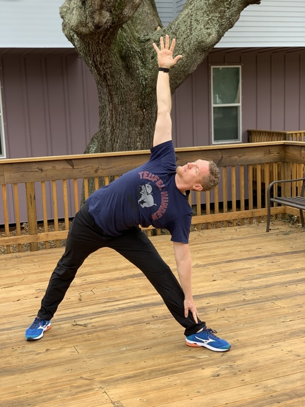Former Marine Cpl. Jason Davey has been practicing yoga for almost four years and teaching it for more than two years. Having a yoga routine in place helped him find the inner strength to keep his anxiety attacks at bay. (Photo provided by Jason Davey)