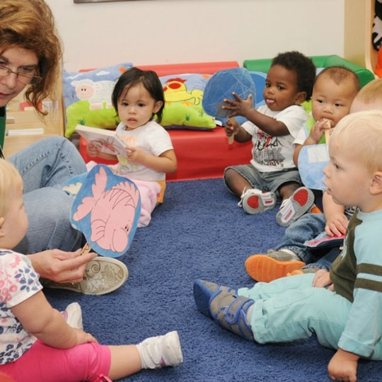 When soldiers can't find on-base child care like this at Fort Drum, N.Y. after a PCS move, Army Emergency Relief can provide supplemental financial assistance to parents using the Army Fee Assistance program. (Michelle Kennedy/Army)