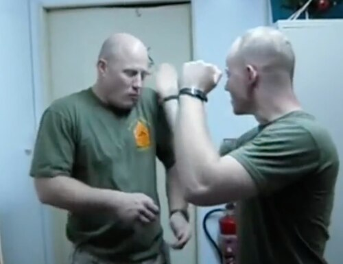 This 2010 knifehand video may be the greatest of all time. (Screenshot via YouTube)