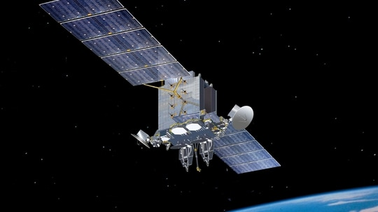 The $39 million contract requires Kratos to provide persistent monitoring of satellite bandwidth used by the military and track down any electromagnetic interference. (Lockheed Martin image)