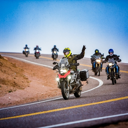 Veterans ride dirt roads with the Motorcycle Relief Project, a nonprofit group that helps former service member deal with post-traumatic stress and other war-related ailments.