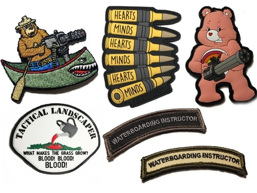 While not authorized for wear on a military uniform, morale patches offer service members and veterans a source of pride and humor. (Images courtesy Empire Tactical)