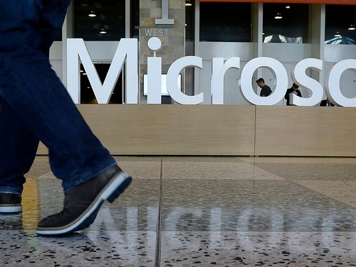 Microsoft announced that it will be enhancing cloud offerings that meet some of the highest government security requirements in the coming months. (Jeff Chiu/AP)