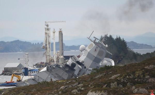The Norwegian frigate KNM Helge Ingstad (Marit Hommedal/NTB Scanpix via AP)