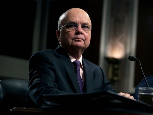 Former CIA Director Gen. Michael Hayden (Ret.) testifies during a hearing before Senate Armed Services Committee August 4, 2015 on Capitol Hill in Washington, DC. (Photo by Alex Wong/Getty Images)