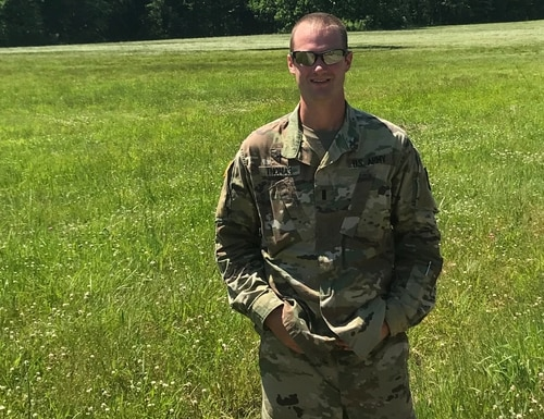 Capt. Justin Thomas, seen here as a 1st Lt., is a chaplain with the Pennsylvania Army National Guard. (U.S. Army National Guard)