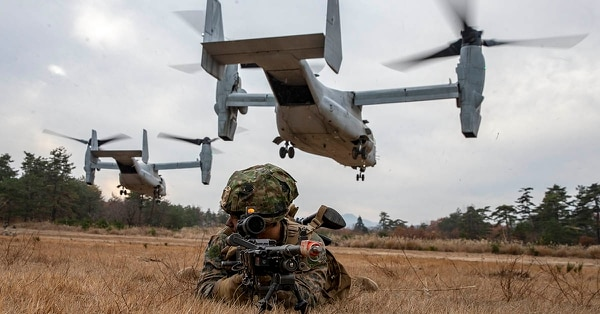 Indonesia seeks the MV-22 Osprey, such as the one pictured here on Dec. 11, 2019. (Lance Cpl. D'Angelo Yanez/U.S. Marine Corps)
