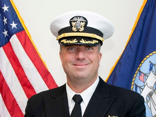 Cmdr. John W. House was relieved as the commanding officer of Navy Recruiting District Michigan in January. (Navy)