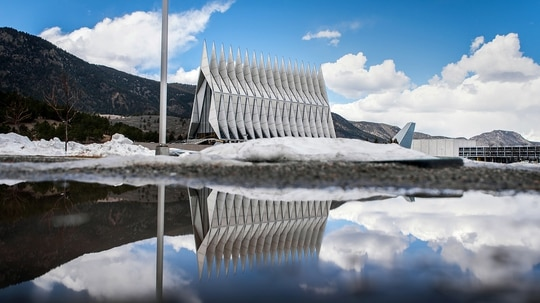 An officer at the Air Force Academy faces charges of rape and sexual assault. (Trevor Cokley/Air Force)