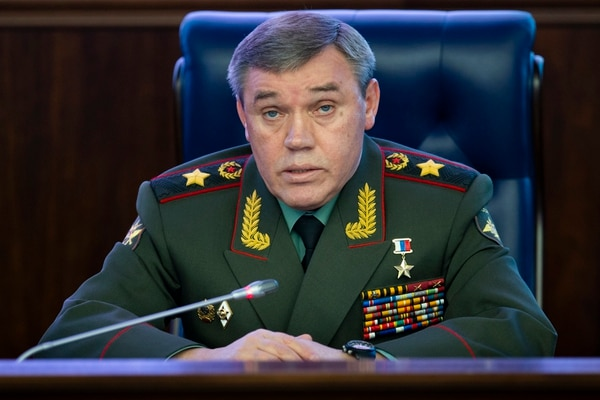 The deputy chief of General Staff of Russia, Valery Gerasimov, warns that if the U.S. abandons the arms control treaty, Russia will have a response. (AP Photo/Alexander Zemlianichenko)