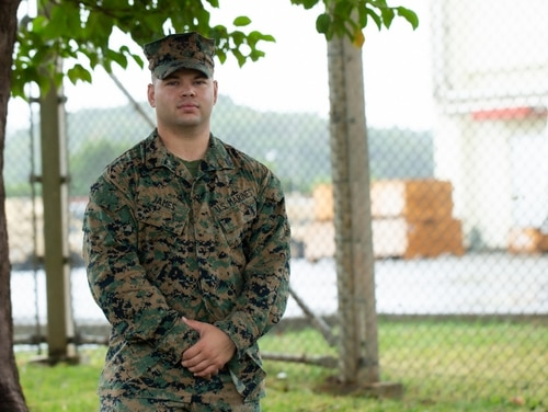 Using lifesaving skills he learned from the Marine Corps, Sgt. John James from Combat Logistics Battalion 31, 31st Marine Expeditionary Unit, was able to save a local elderly woman from a venomous snake bite on Nov. 6. (Cpl. Brandon Salas/Marine Corps)