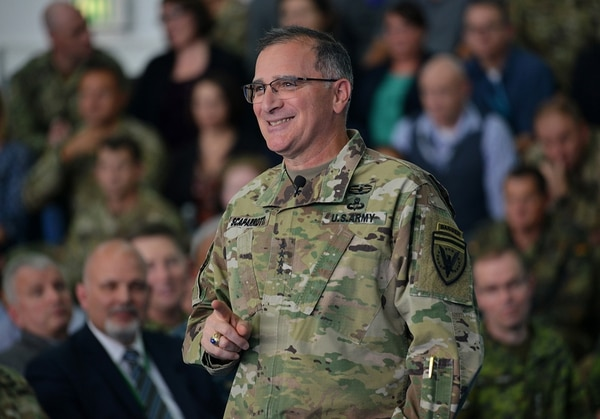 U.S. European Command Commander Army Gen. Curtis M. Scaparrotti hosts a command