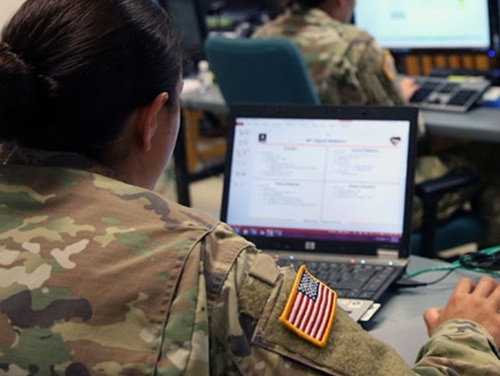 The Army wants to use cyber and information capabilities to compete with adversaries below the threshold of conflict. (U.S. Army)