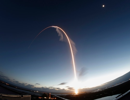 A United Launch Alliance Atlas V rocket lifts off on an orbital flight test to the International Space Station on Dec. 20, 2019, in Cape Canaveral, Fla. (Terry Renna/AP)